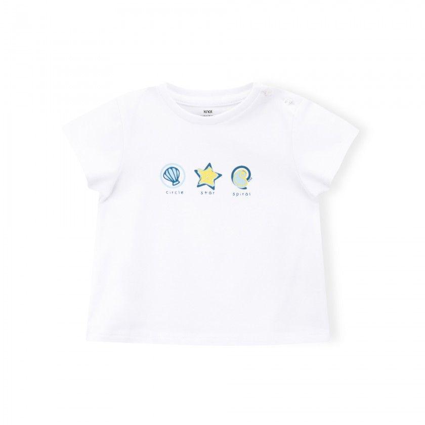 T-shirt bebé Aquatic shapes