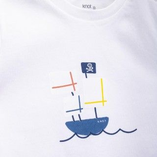 T-shirt bebé Pirate Boat