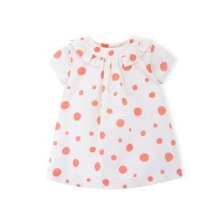 Baby dress organic cotton Pool Dots