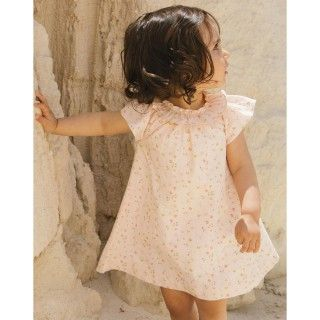 Flowers voile baby dress