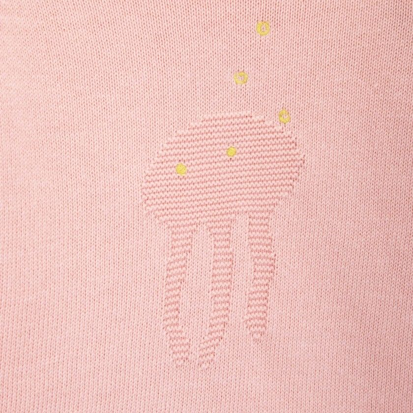 Jellyfish knitted baby sweater