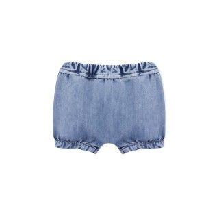 Aqua denim baby shorts