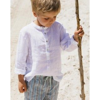 Broadie linen boy tunic