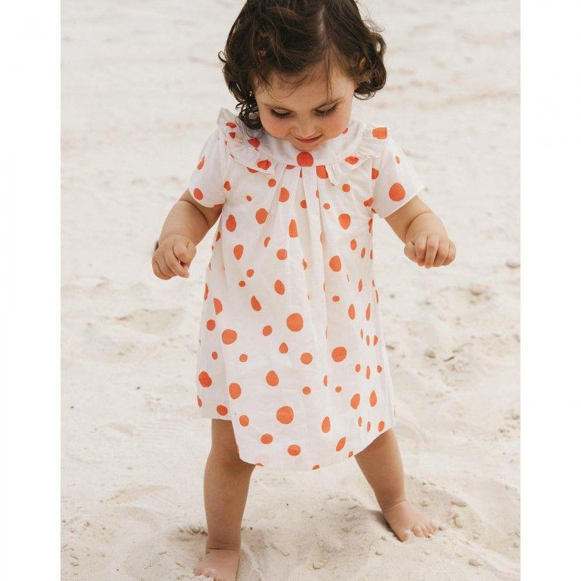 Pool dots organic cotton baby dress