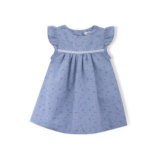 Melody chambray baby dress