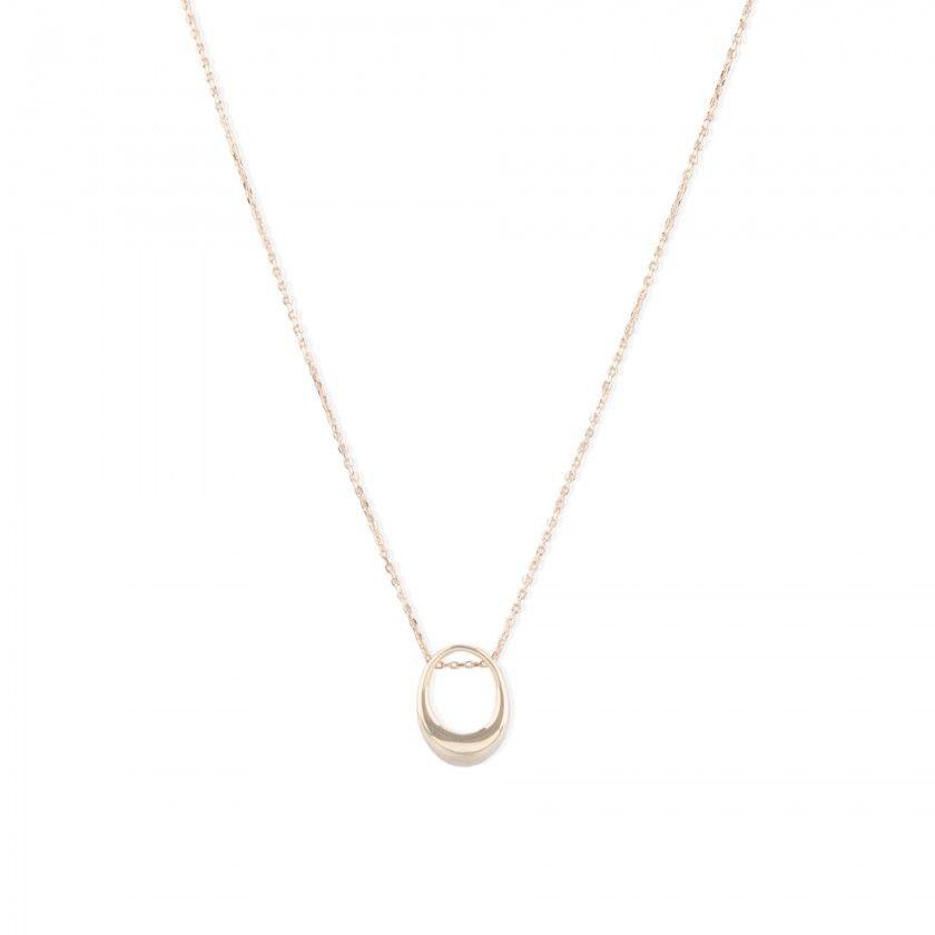 Fio prata dourada pendente anel oval grosso