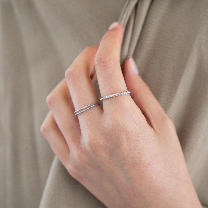 anel em prata rodado
