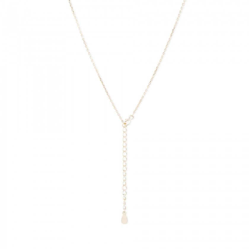 Silver necklace with mate round pendant