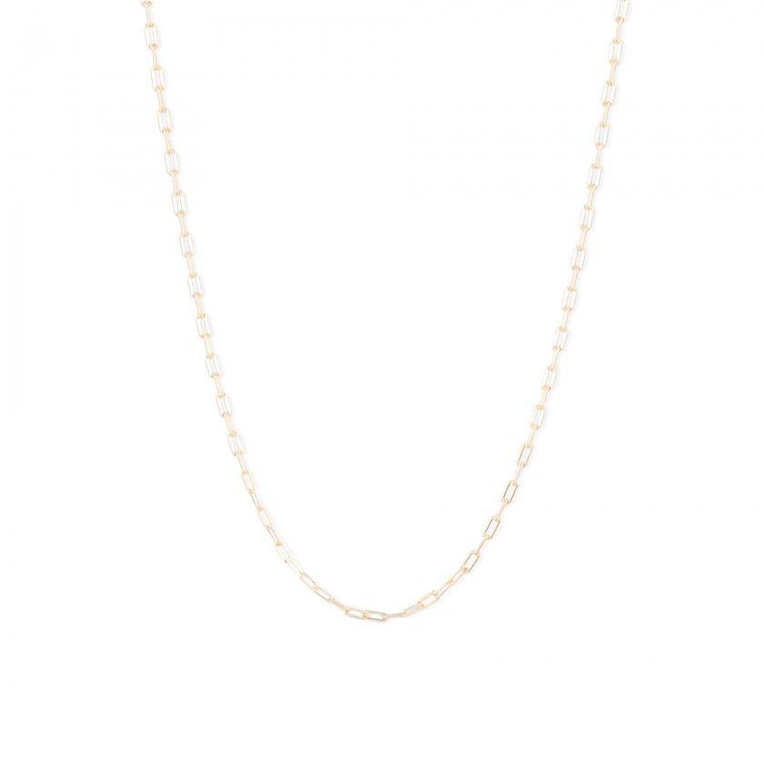 Fio prata dourada retangular