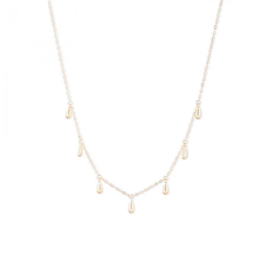 Golden silver necklace waterdrops pendants