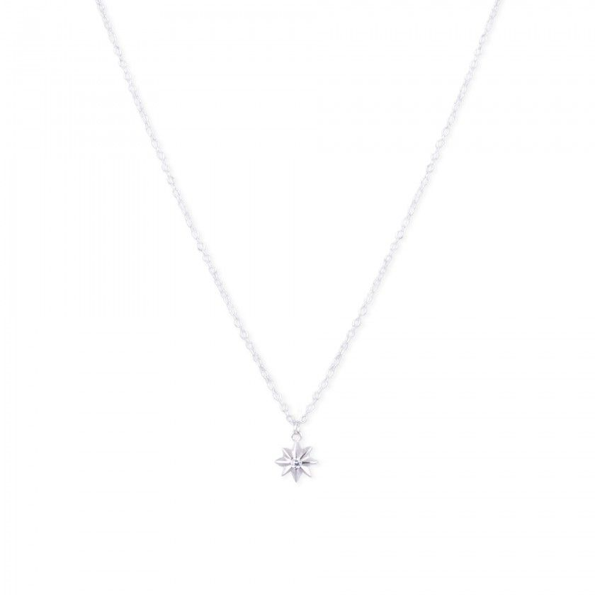 Silver necklace with star