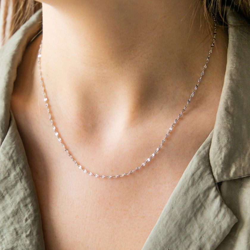 Twisted Slice Sterling Silver Chain
