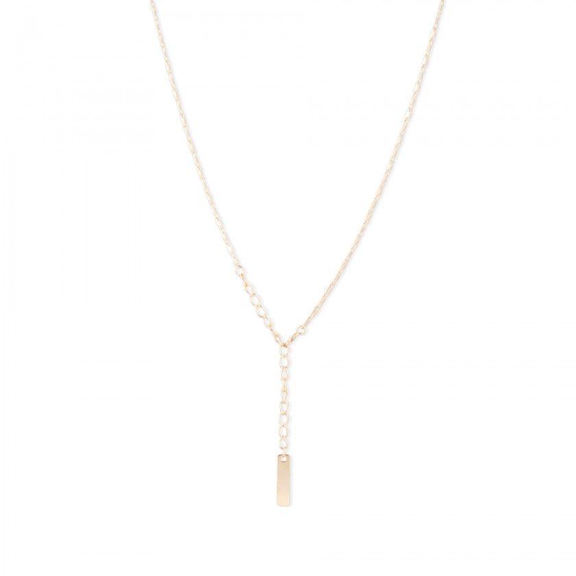 Golden silver necklace