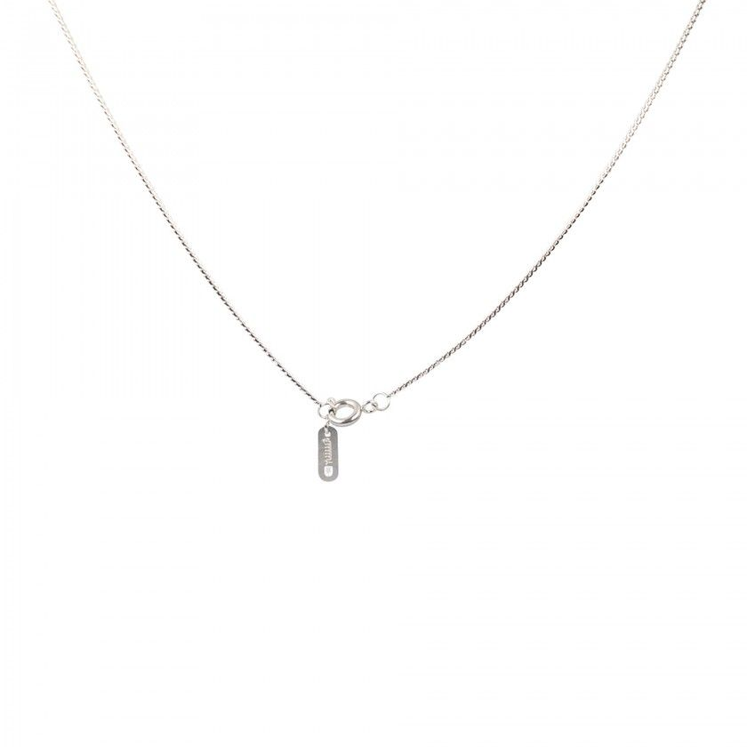 Stainless steel necklace with letter F