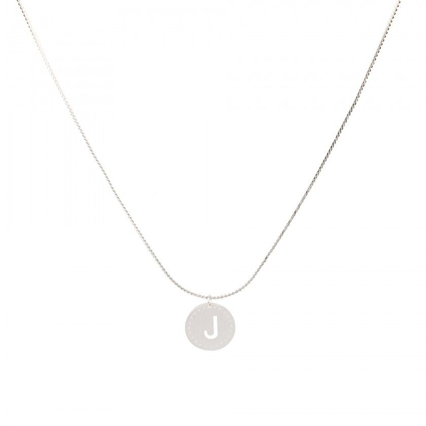 Stainless steel necklace with letter J