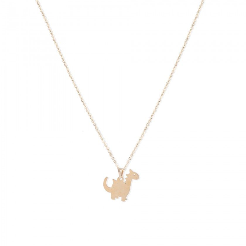 Dinosaur stainless steel necklace