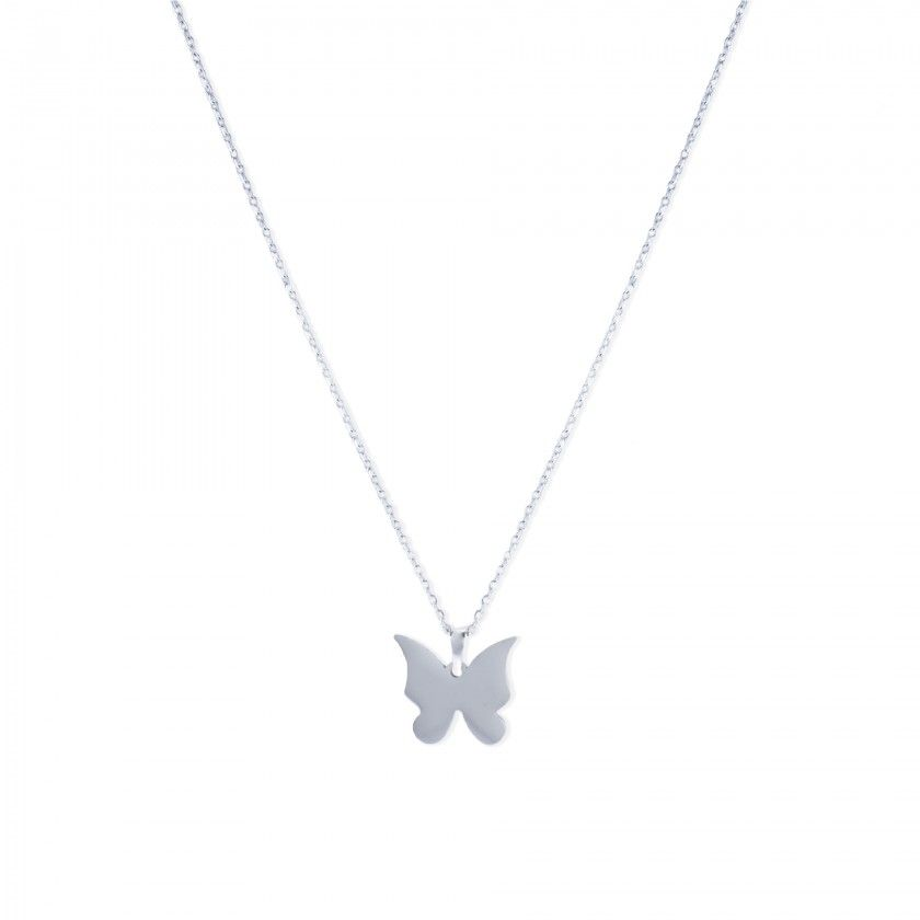 Butterfly stainless steel necklace