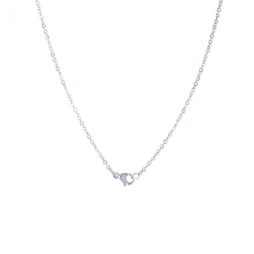 Cut medal stainless steel necklace