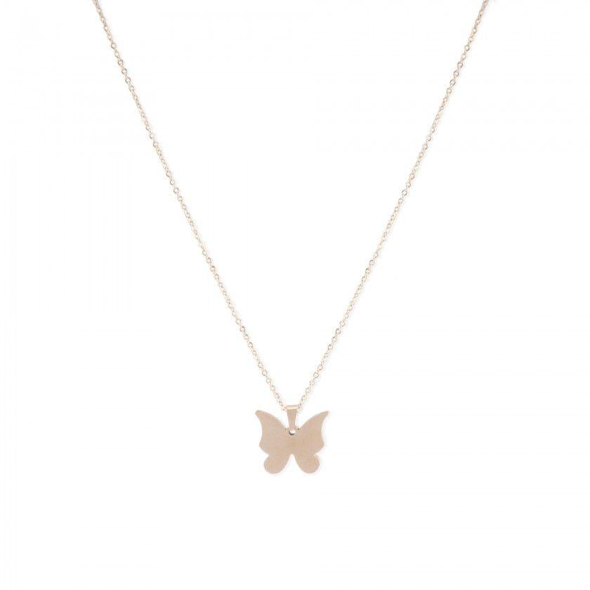 Fio aço dourado borboleta