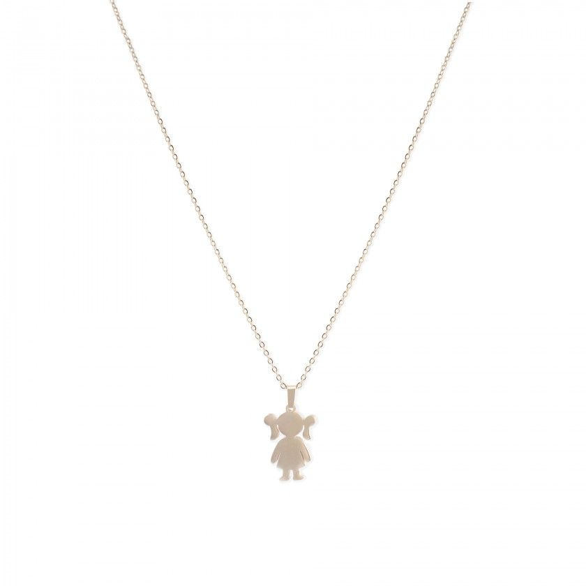Doll stainless steel necklace