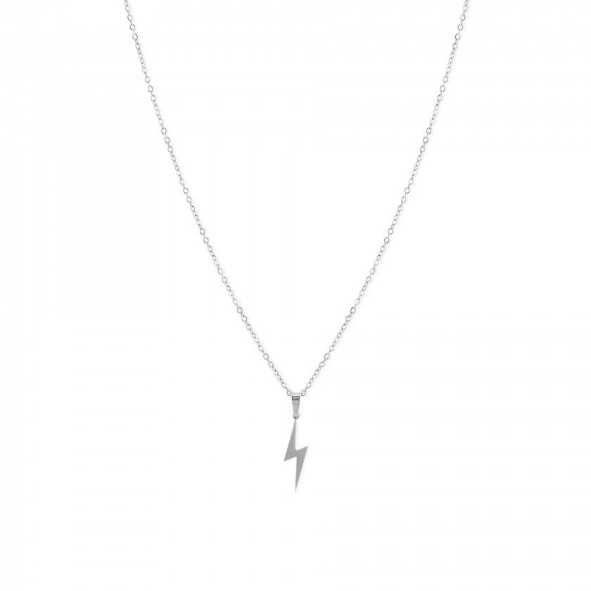 Lightning stainless steel necklace