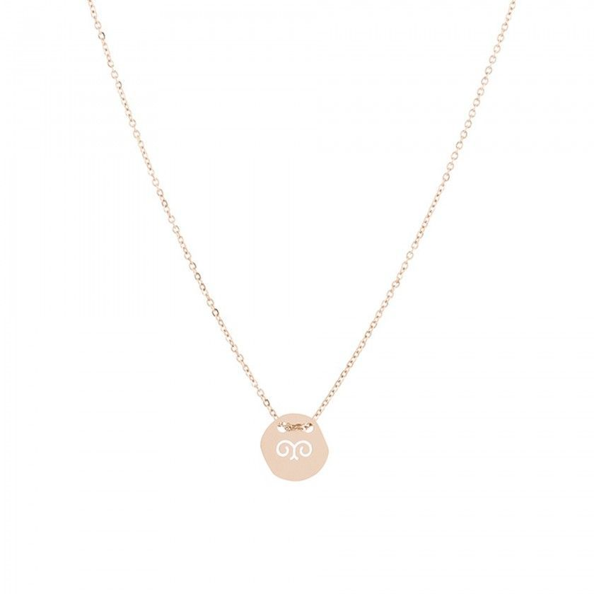 Stainless steel aries gold necklace