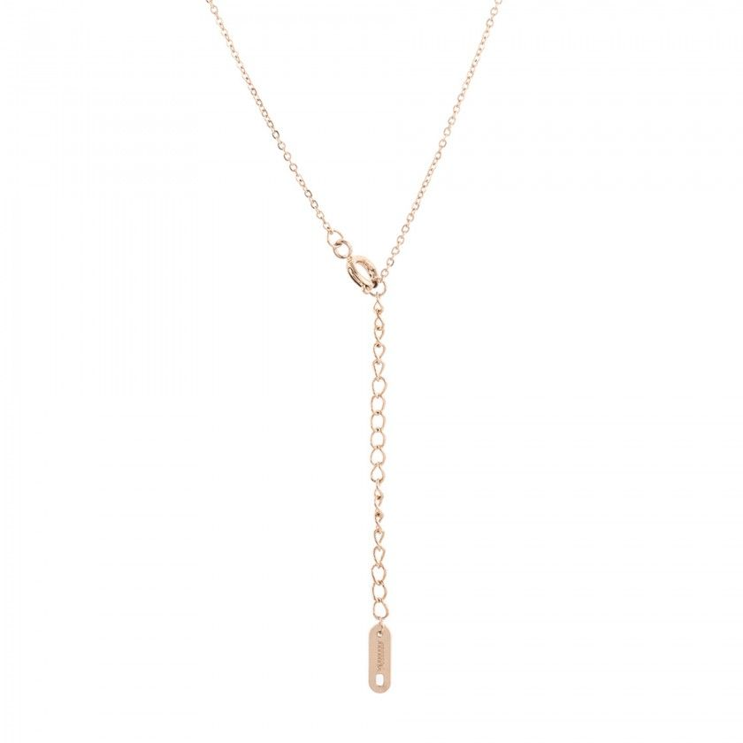 Stainless steel gemini gold necklace