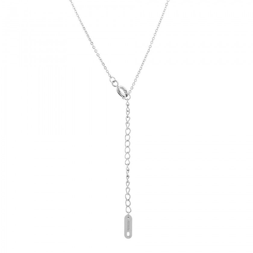 Stainless steel scorpio silver necklace