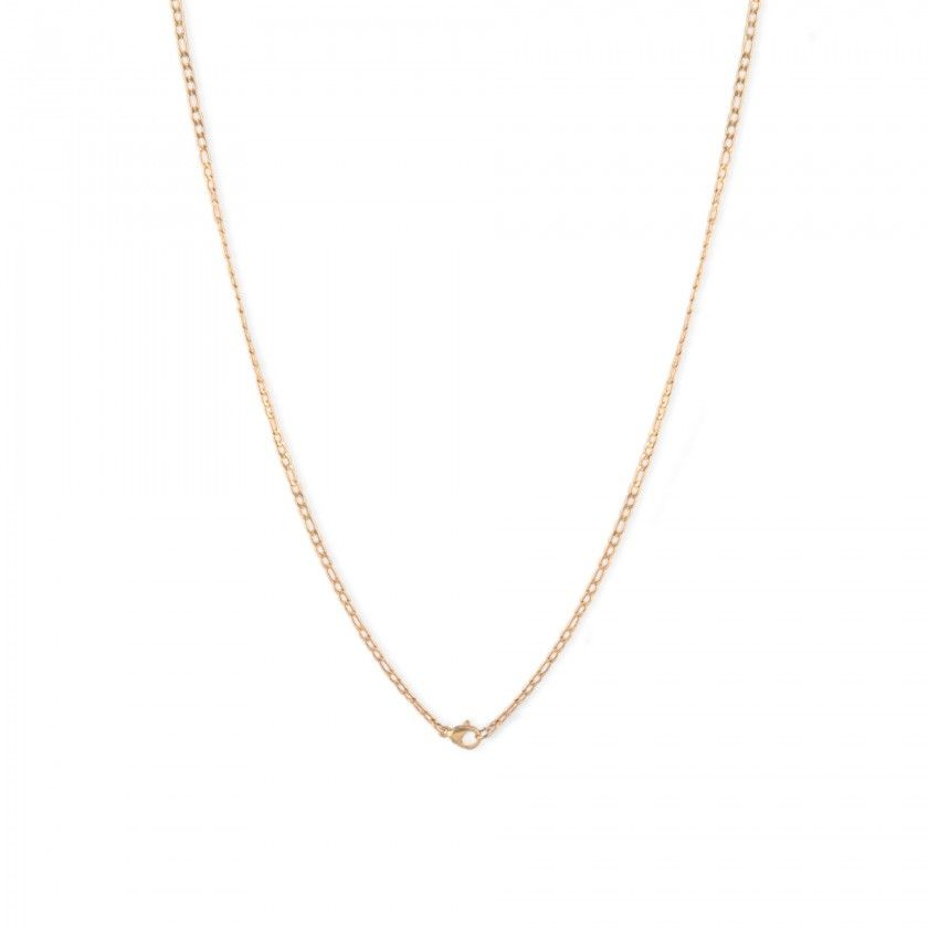 Golden links chain necklace in stainless steel