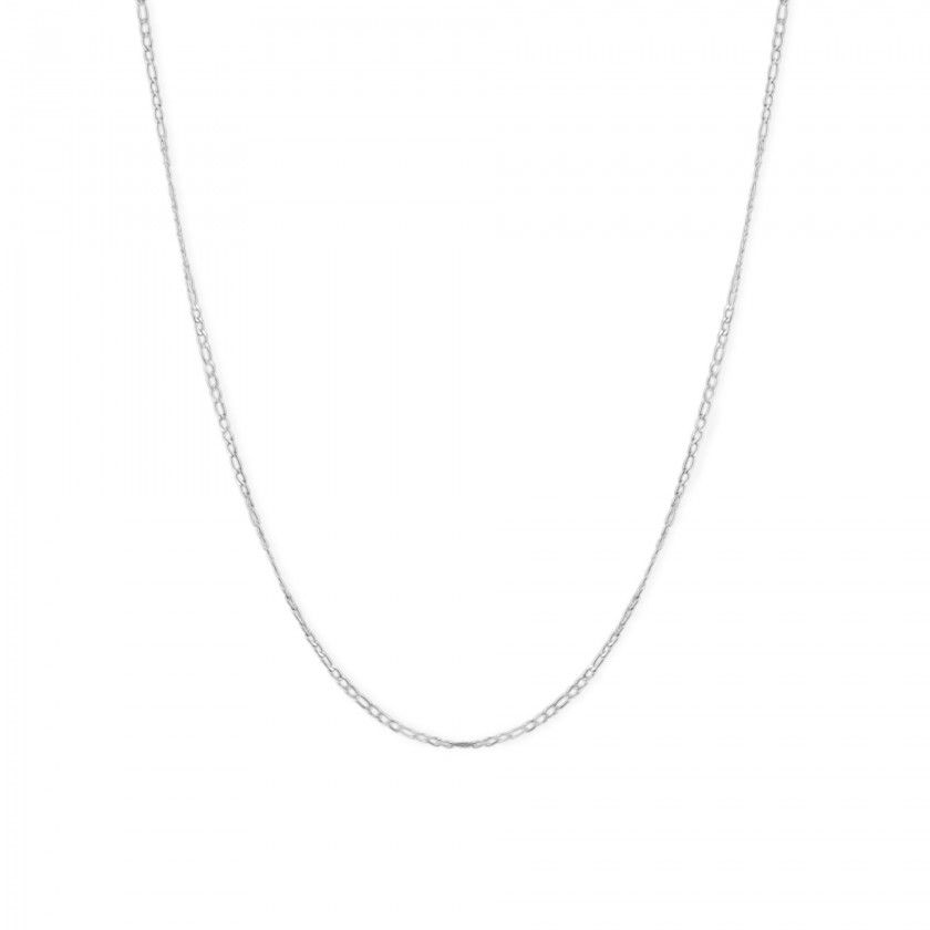 Silver links chain necklace in stainless steel