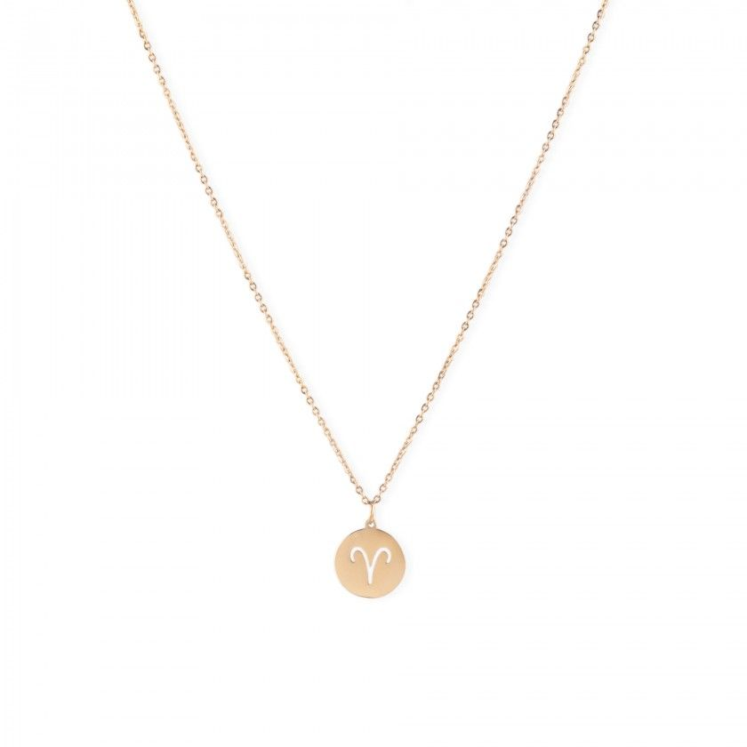 Aries stainless steel necklace golden