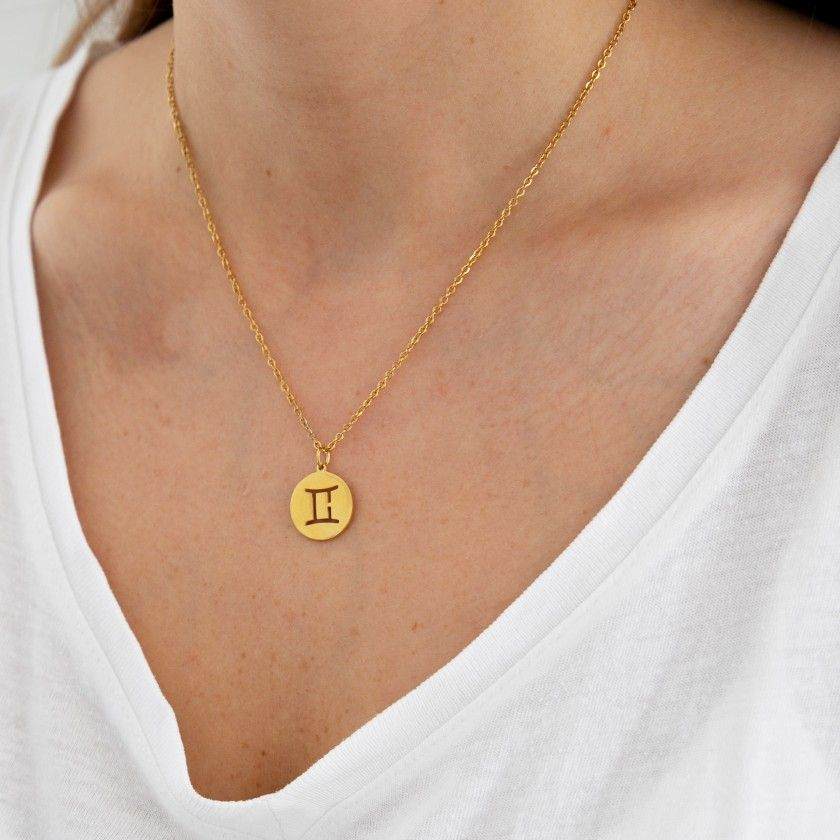 Cancer stainless steel necklace golden
