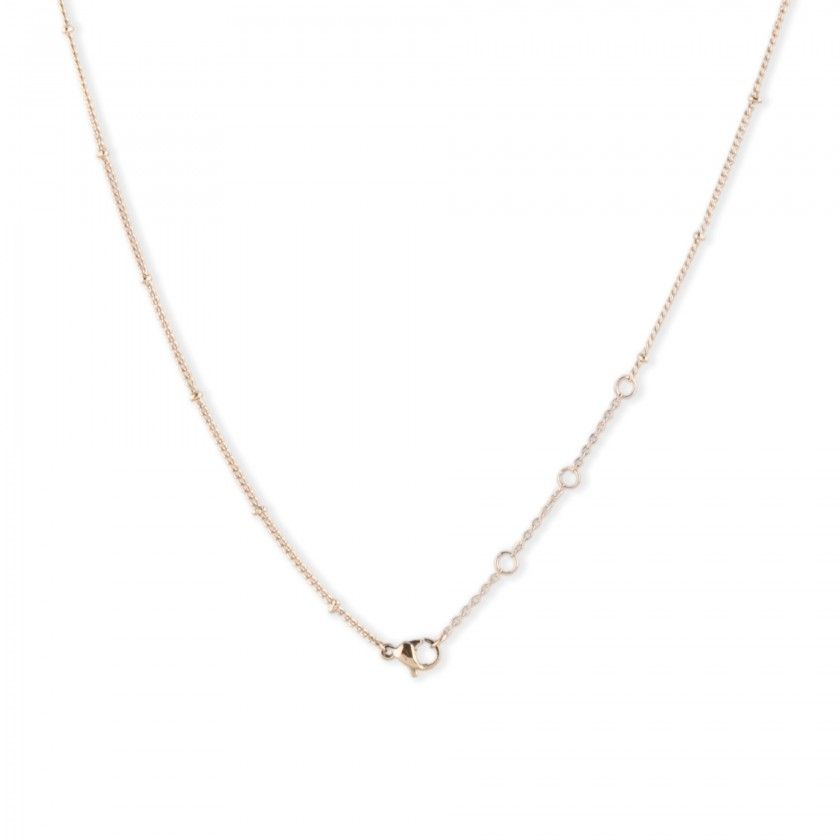 Golden stainless steel necklace with heart