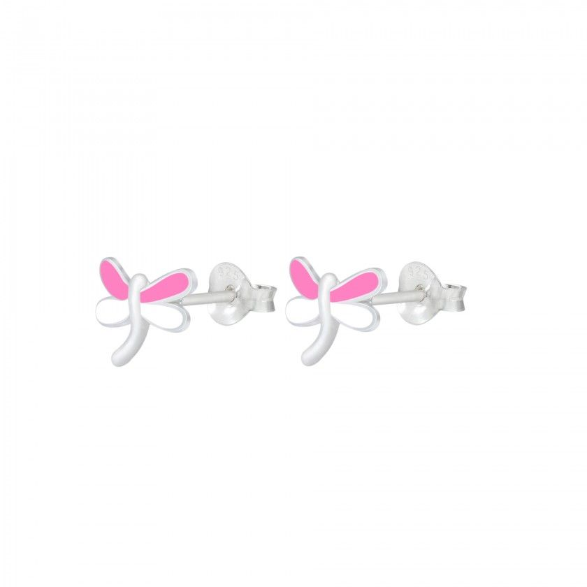 Silver Dragonfly Stud Earrings