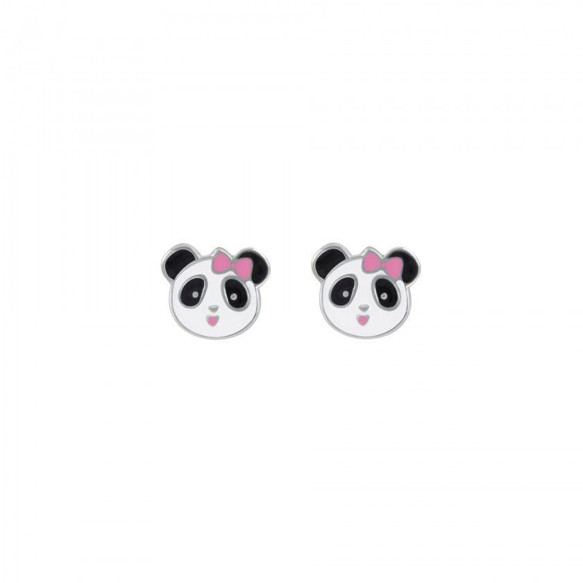 Brincos prata panda girl