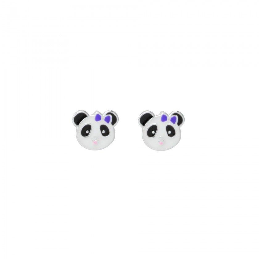 Brincos prata panda