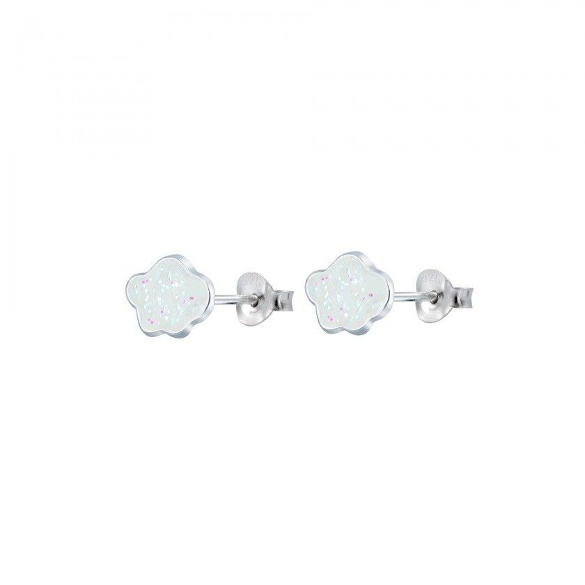 Silver cloud stud earrings