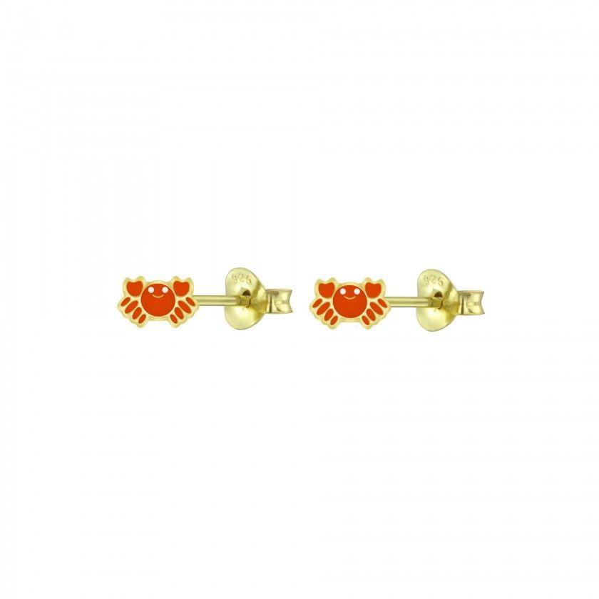 Silver crab stud earrings