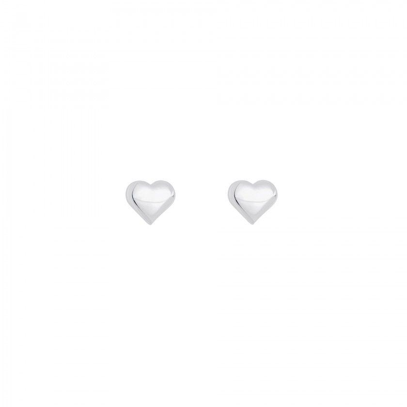 Brincos prata coração pequeno