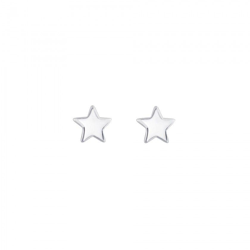 Brincos prata estrela pequena