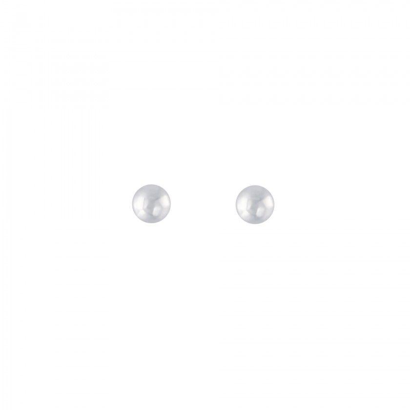 Silver ball screw back earrings