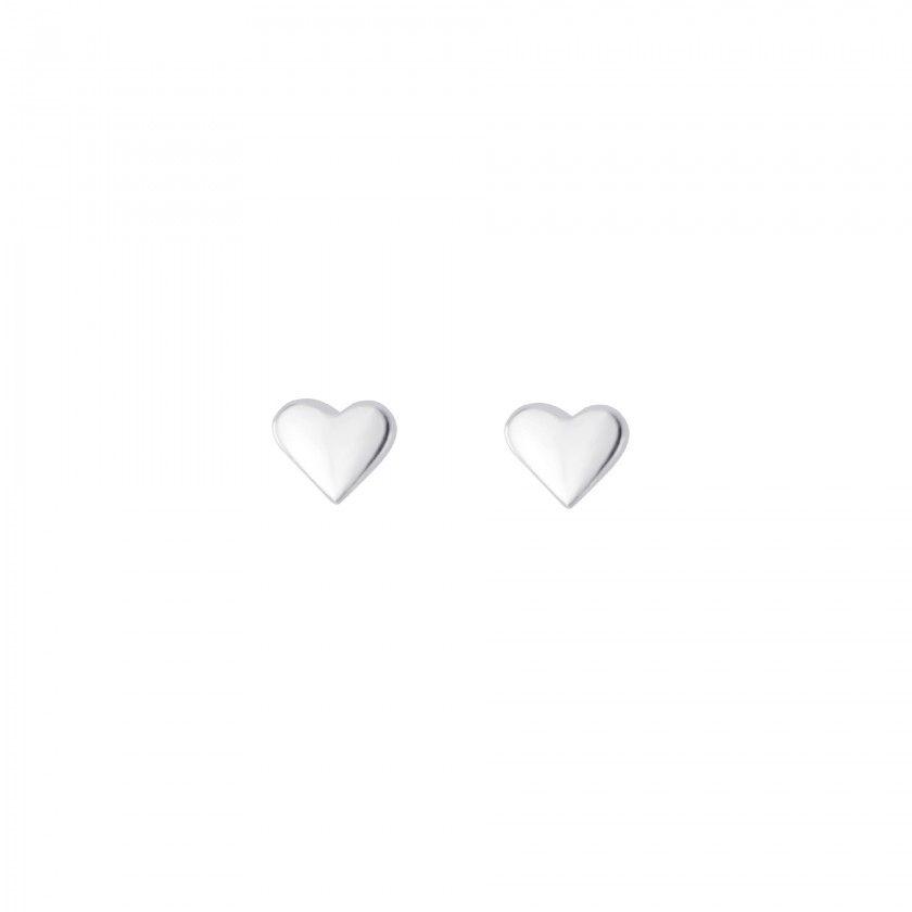 Brincos prata rosca coração
