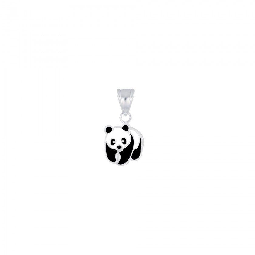 Silver panda pendant
