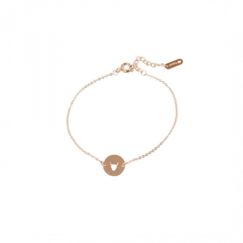 Taurus gold steel bracelet