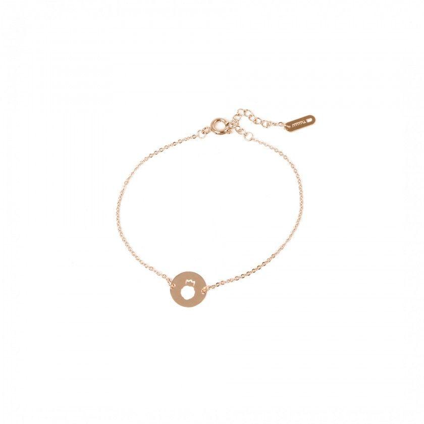Leo gold steel bracelet