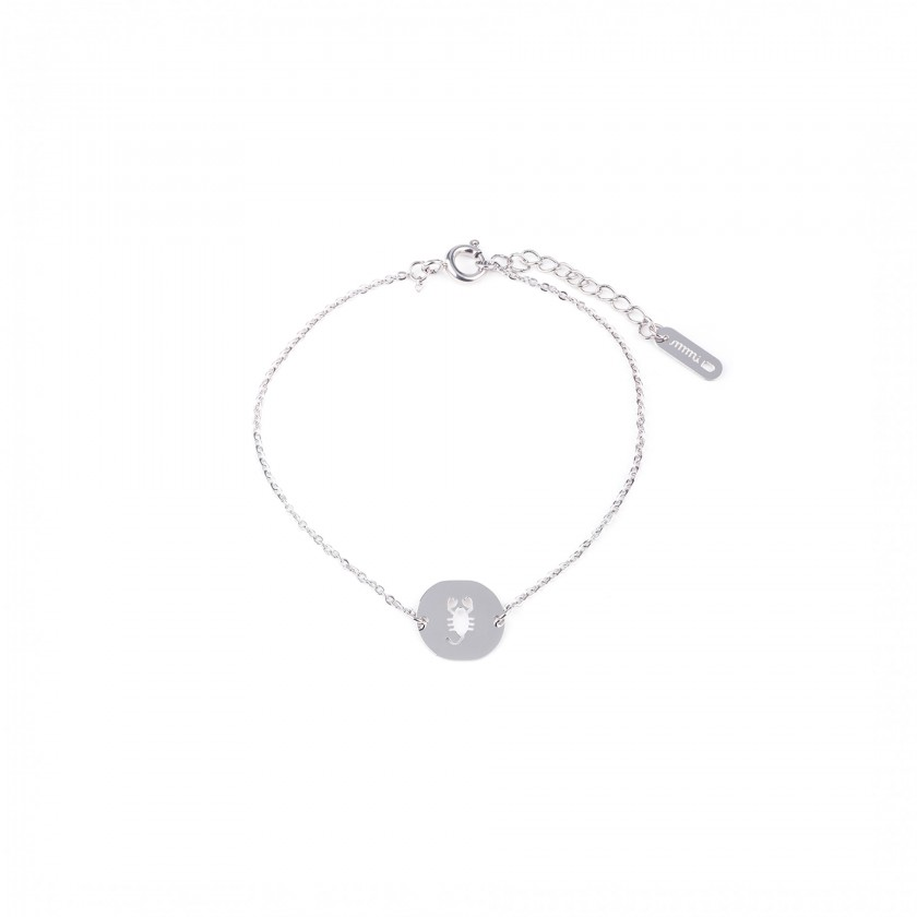Scorpio steel bracelet
