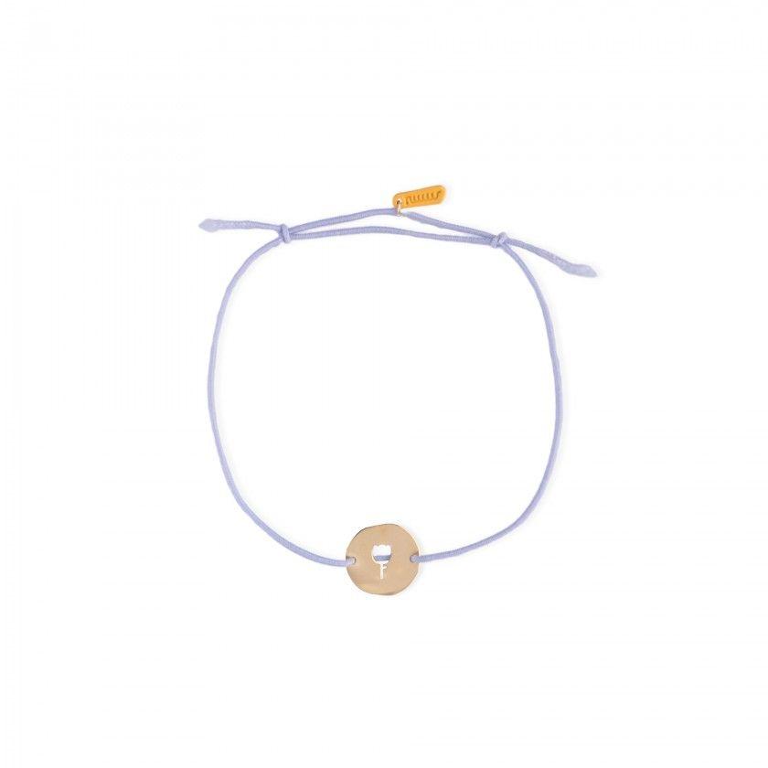 Virgo gold steel and elastic bracelet