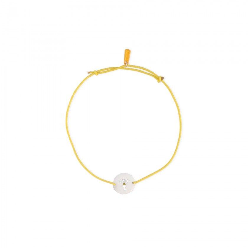 Capricorn steel and elastic bracelet