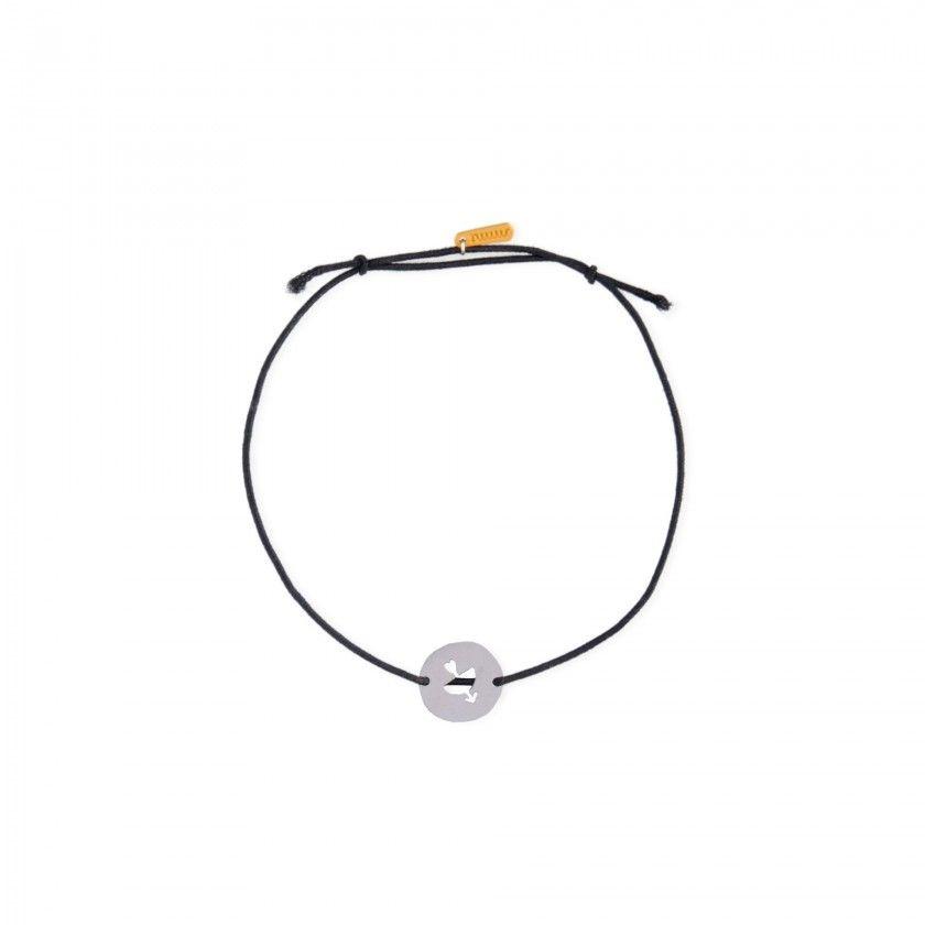 Sagittarius steel and elastic bracelet