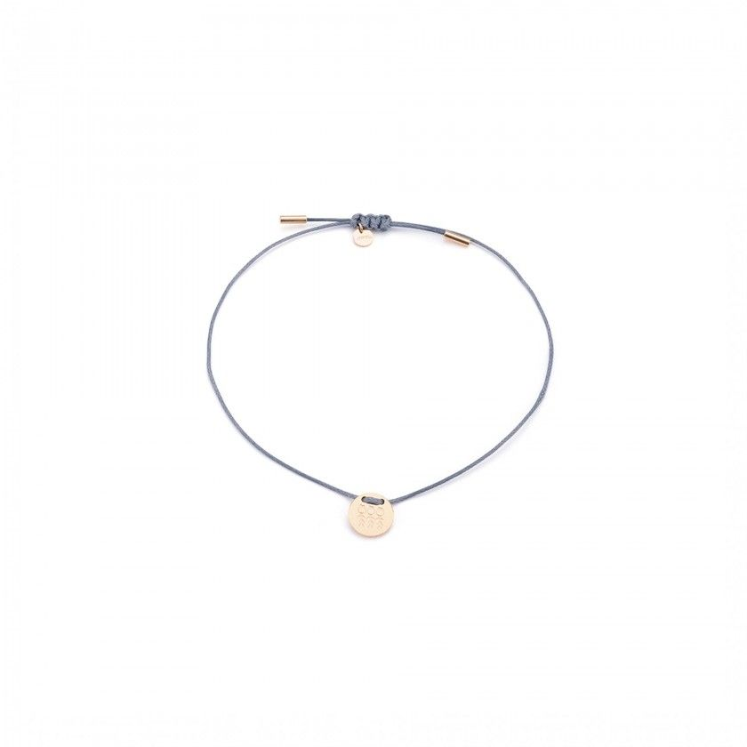 3 girls cord and gold steel bracelet